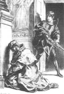 Claudius_at_Prayer_Hamlet_3-3_Delacroix_1844